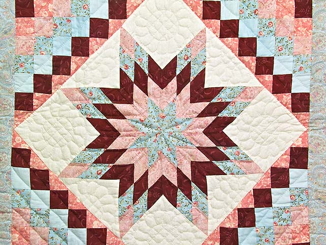 Pastel Blue and Rose Lone Star Trip Wall Hanging Photo 2