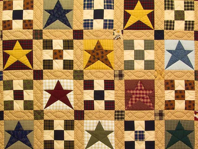 Homespun Stars and Nine Patch Throw Photo 2