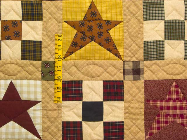 Homespun Stars and Nine Patch Throw Photo 3