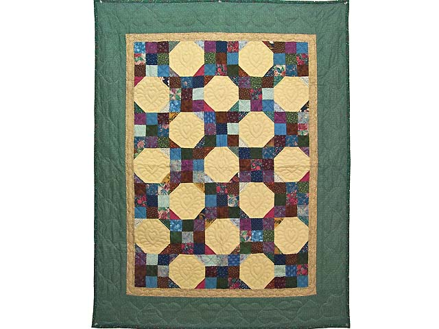 Green Country Style Snowball Crib Quilt Photo 1