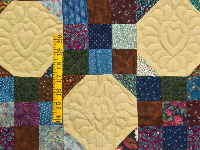 Green Country Style Snowball Crib Quilt Photo 3