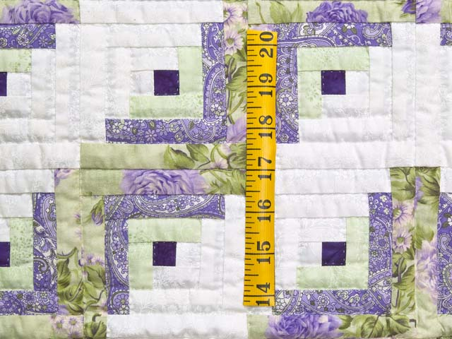 Lavender and Willow Green Log Cabin Crib Quilt Photo 3