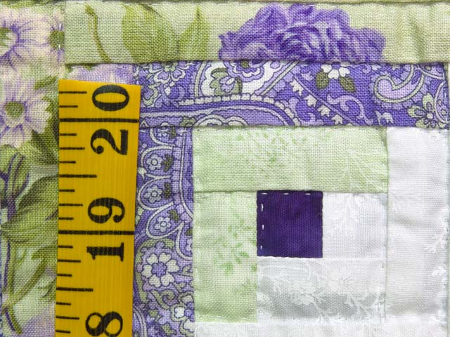 Lavender and Willow Green Log Cabin Crib Quilt Photo 4