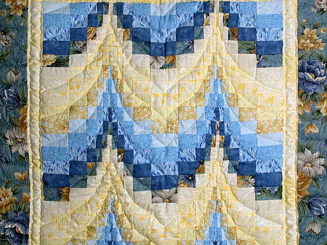 Blue & Yellow Bargello Wall Hanging Photo 2