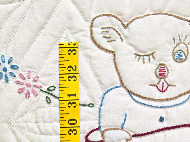 Bear BABY Embroidered Crib Quilt Photo 5