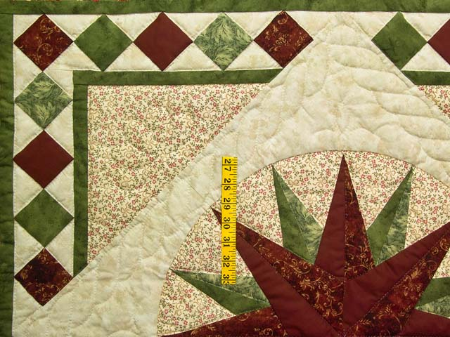 Green and Burgundy Compass Star Wall Hanging Photo 3