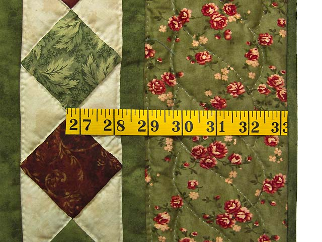 Green and Burgundy Compass Star Wall Hanging Photo 5