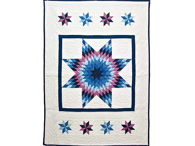 Blue Navy and Rose Constellation Lone Star Throw Photo 1