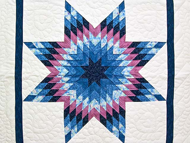 Blue Navy and Rose Constellation Lone Star Throw Photo 2