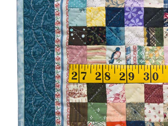 Miniature Multicolor Postage Stamp Quilt Photo 3