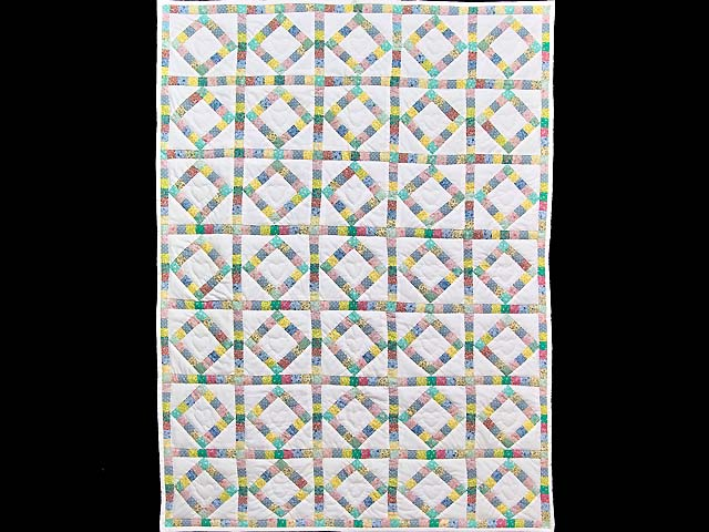 Pastel Diamond Postage Stamp Crib Quilt Photo 1