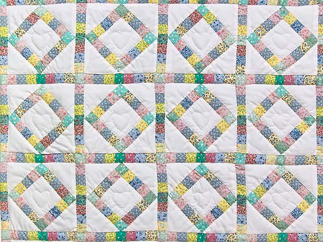 Pastel Diamond Postage Stamp Crib Quilt Photo 2