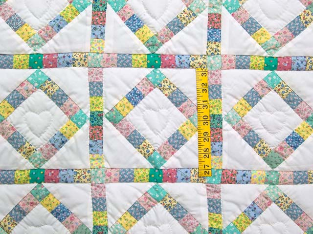 Pastel Diamond Postage Stamp Crib Quilt Photo 3