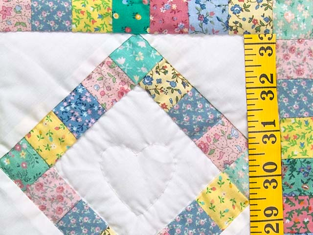 Pastel Diamond Postage Stamp Crib Quilt Photo 4