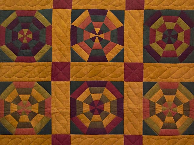Golden Brown and Burgundy Serendipity Wall Hanging Photo 2
