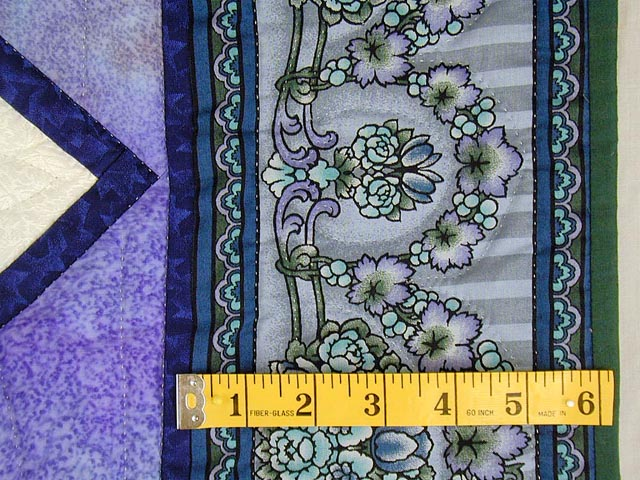 Lavender Iris Appliqued Wall Hanging Photo 3