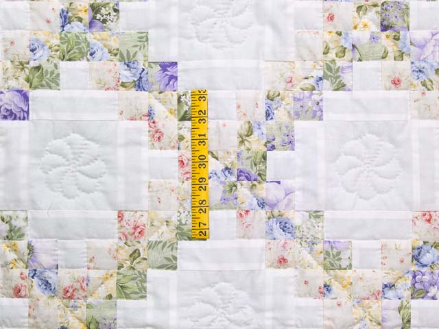 Lavender Willow and Cream Irish Chain Crib Quilt Photo 3
