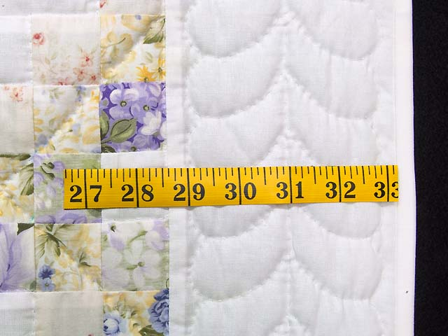 Lavender Willow and Cream Irish Chain Crib Quilt Photo 5