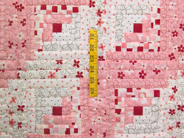Definitely Pink Log Cabin Crib Quilt Photo 3