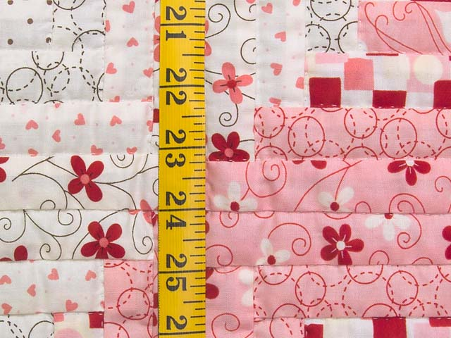 Definitely Pink Log Cabin Crib Quilt Photo 4