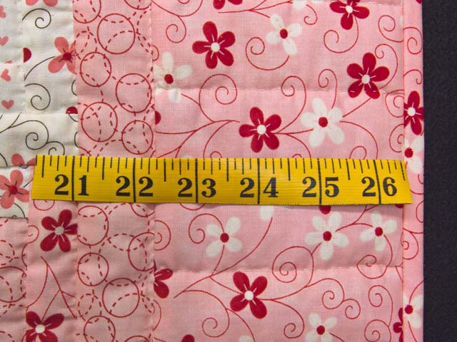 Definitely Pink Log Cabin Crib Quilt Photo 5