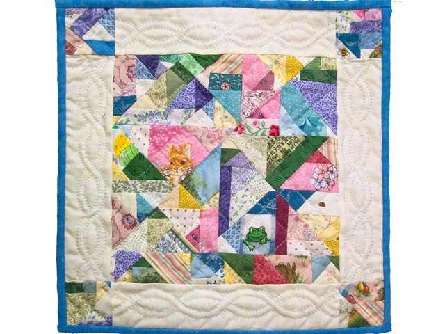 Miniature Pastel Crazy Quilt Photo 1
