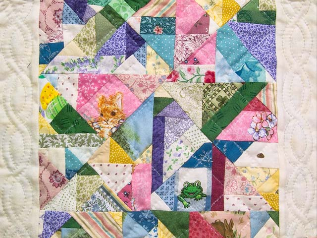 Miniature Pastel Crazy Quilt Photo 2