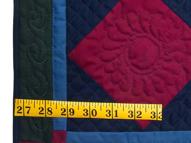 Mini Amish Center Diamond Quilt Photo 3