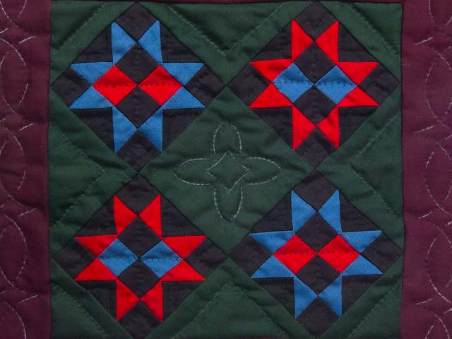 Miniature Amish Ohio Stars Quilt Photo 2