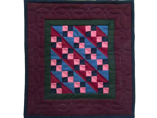 Miniature Amish Four Patch Quilt Photo 1