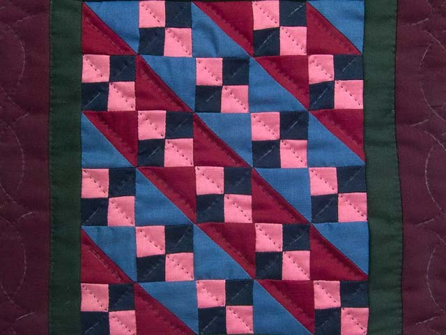 Miniature Amish Four Patch Quilt Photo 2
