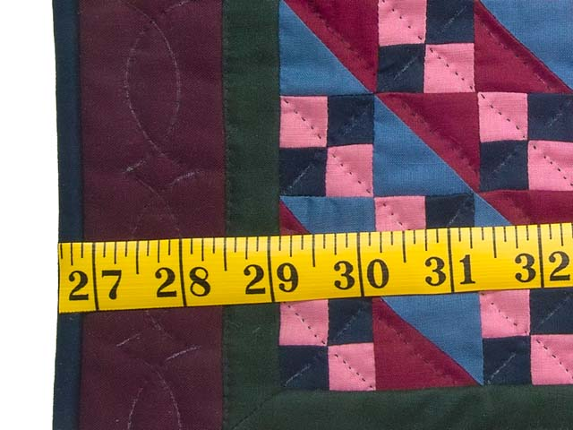 Miniature Amish Four Patch Quilt Photo 3
