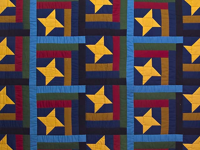 Amish Friendship Star Throw Photo 2