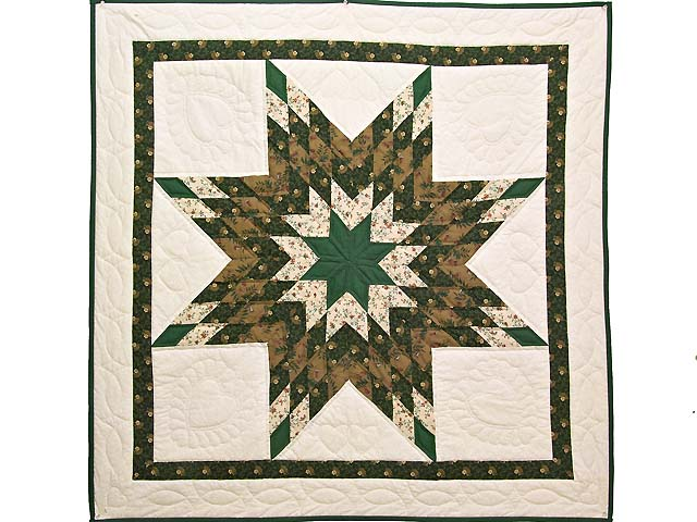 Dark Green and Brown  Lone Star Wall Hanging Photo 1