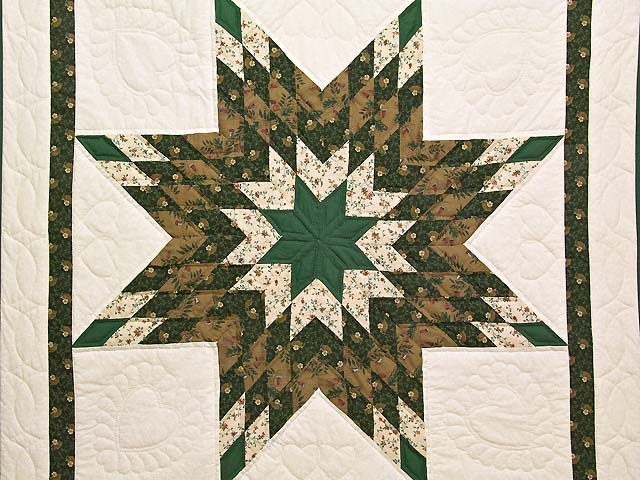 Dark Green and Brown  Lone Star Wall Hanging Photo 2