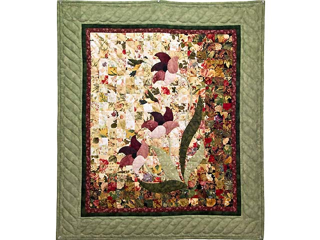 Sage Green and Burgundy Morning Splendor Wall Hanging Photo 1