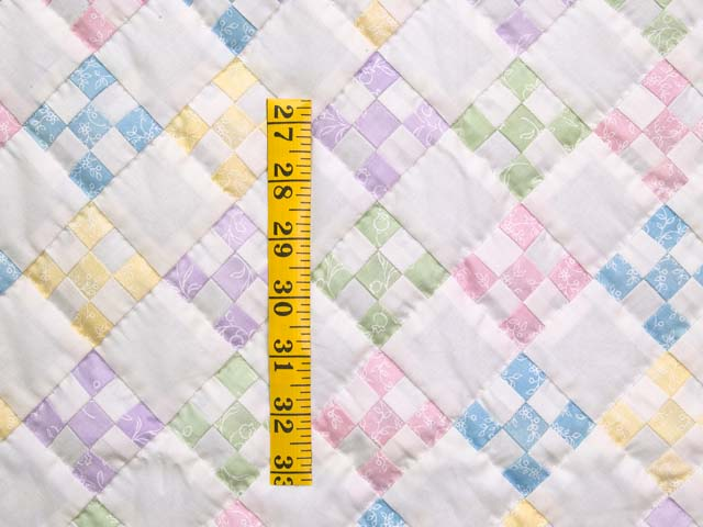 Pastels and Cream Nine Patch Crib Quilt Photo 3