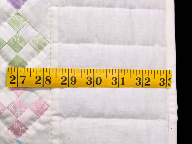 Pastels and Cream Nine Patch Crib Quilt Photo 5