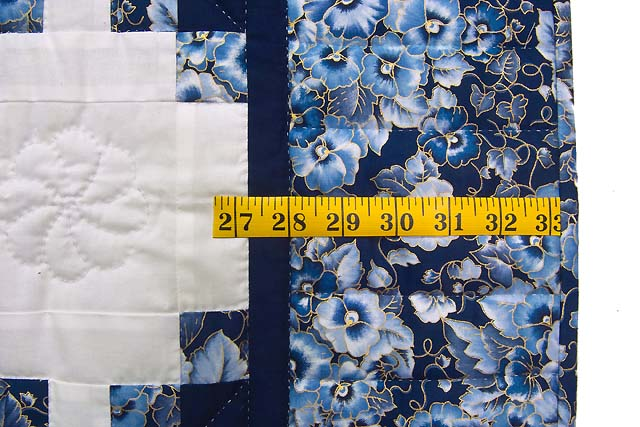 Navy Blue and Cream Irish Chain Crib Quilt Photo 5