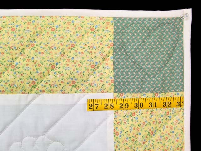Pastel Yellow and Green Rocking Horse Crib Quilt Photo 5