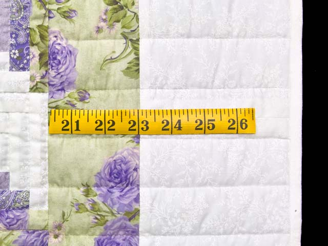 Lavender and Willow Green Log Cabin Crib Quilt Photo 5