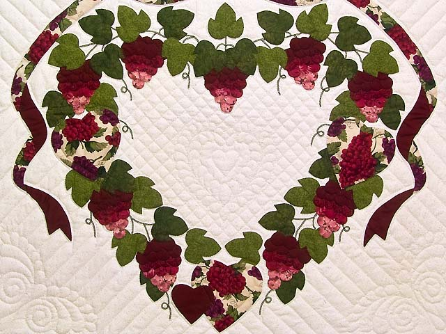 Burgundy Green and Cream Love in the Vineyard Wall Hanging Photo 2
