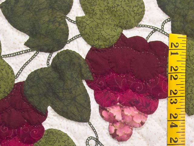 Burgundy Green and Cream Love in the Vineyard Wall Hanging Photo 4