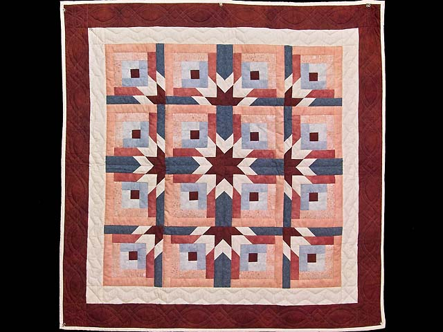 Burgundy and Rose Starburst Wall Hanging Photo 1