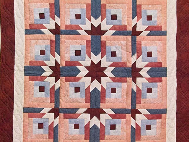 Burgundy and Rose Starburst Wall Hanging Photo 2