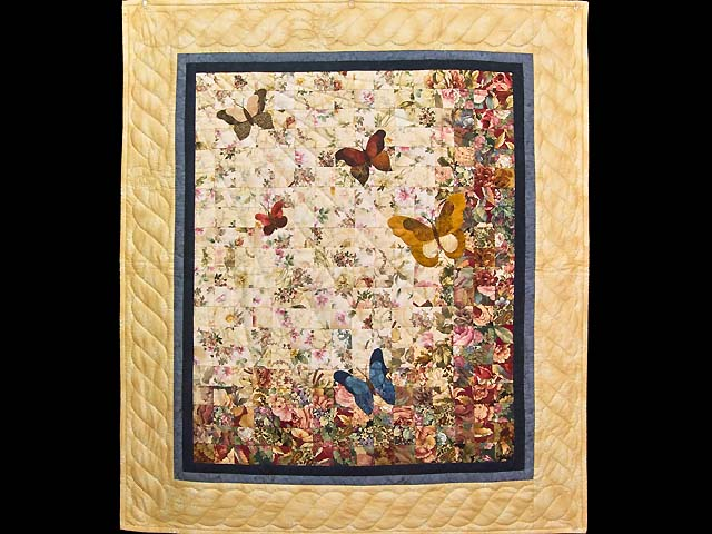 Golden Tan Butterfly  Journey -- Watercolor Wall Hanging Photo 1