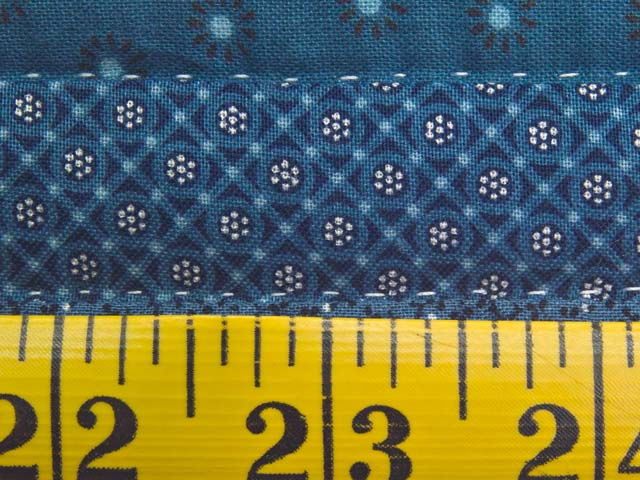 Blue and Navy Log Cabin Crib Quilt Photo 6