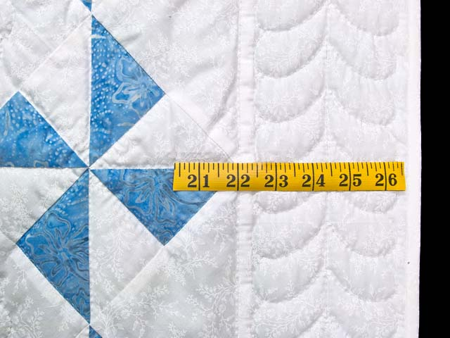 Sterling Blue and Cream Pinwheel Crib Quilt Photo 5
