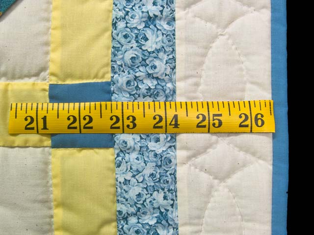 Blue and Yellow Flying Pinwheels Crib Quilt Photo 5