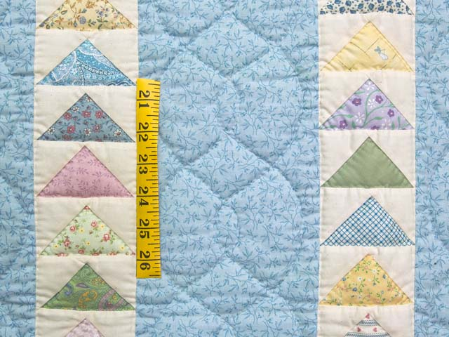 Pastel Blue and Yellow  Flying Geese Crib Quilt Photo 3